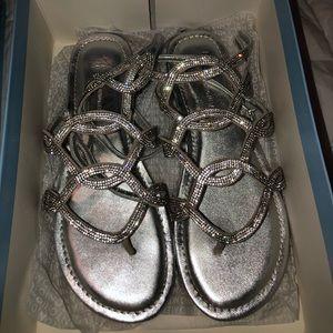 antonio melanie sparkly flat sandals